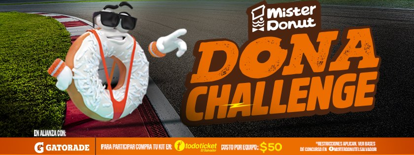 Mister DONUT septiembre 2018 DONA challenge