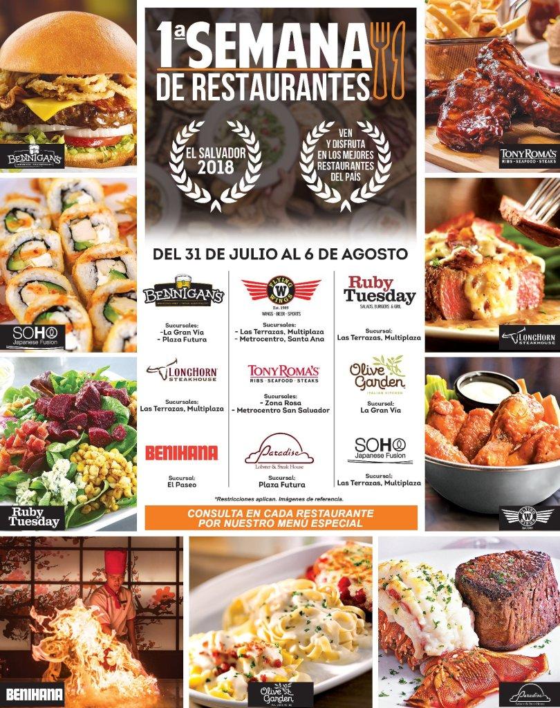 Primera semana de restaurantes el salvador 2018 LO MEJOR en COMIDA