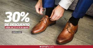 SIMAN 30 off de descuentos en calzado para caballros 24ago18