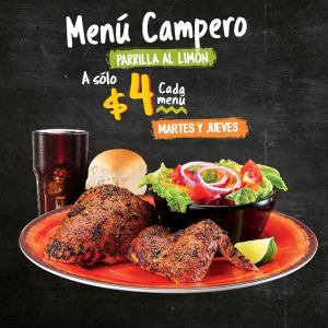 menu pollo campero tradicional menu campero al limon