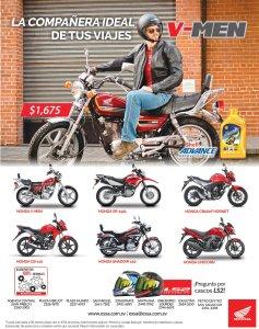 HONDA v-men ideal para tus viajes en moto