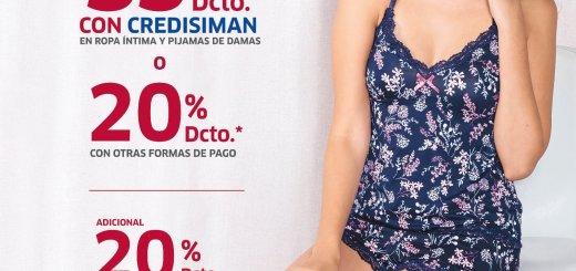 Ropa intima y pijamas para DAMAS con descuento SIMAN