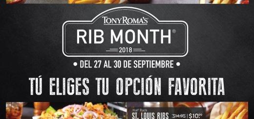 TONY ROMAS promocion de costilla para cerrar septiembre 2018