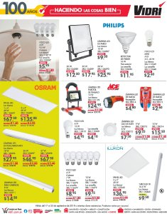 VIDRI ofertas y promociones en luces lamparas luminarias LED - 17sep18