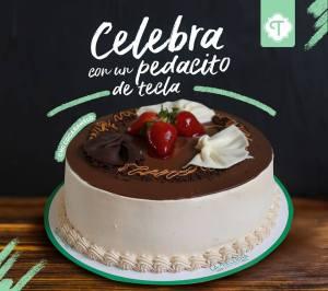 pastel de chocolate de La Tecleña