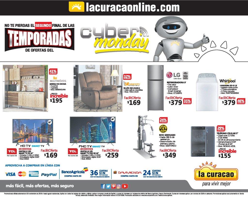 Cyber Monday 2018 en La Curacao online