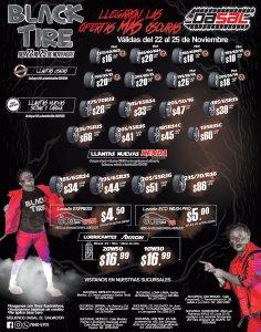 DASAL blackfriday 2018 llantas black tire deals