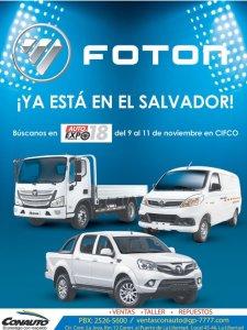 FOTON autos y caminones de trabajo en el salvador CONAUTO