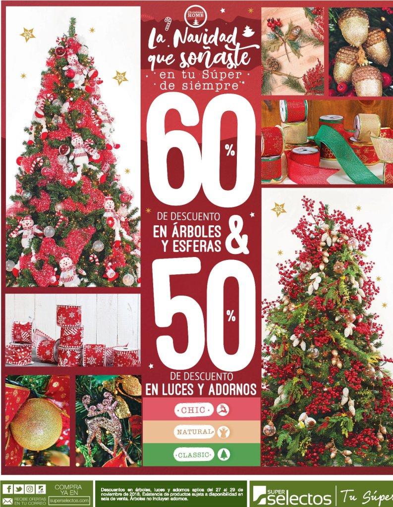 Hasta 60 OFF de descuento en adornos navidenos - 28nov18