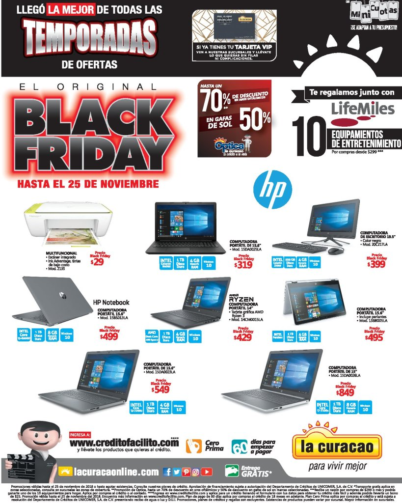 Laptop LA CURACAO blackfriday 2018 ofertas