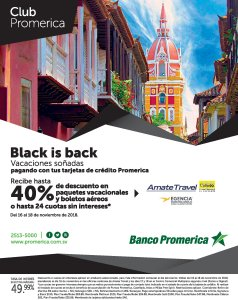Ofertas Black Friday 2018 BANCO PROMERICA el salvador