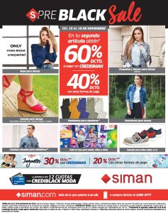 Ofertas Black Friday 2018 SIMAN preblack sale - 15nov18