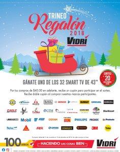 Promocion gana una TV gracias a VIDRI navidad 2018
