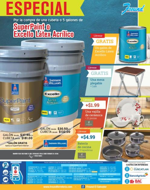 Promociones freund en pinturas sherwin williams 2018