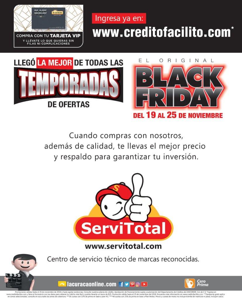 Tus compras black friday de la curacao tiene GARANTIA