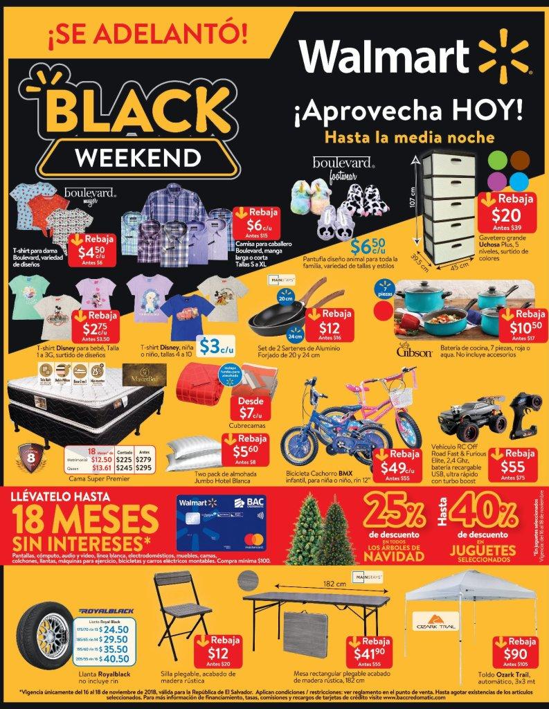 Walmart el salvador Black Friday 2018 productos en oferta