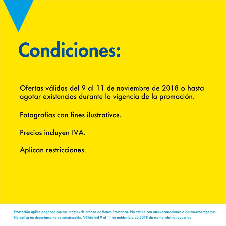 condiciones de promociones epa y banco promerica