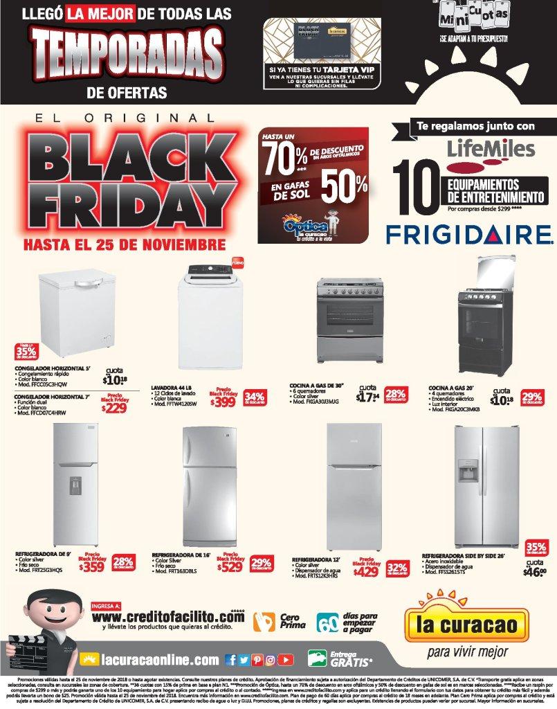 electrodomesticos LA CURACAO blackfriday 2018 ofertas