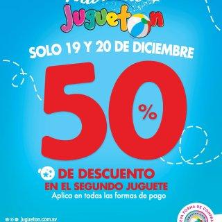 JUguetes de Navidad descuento 50 of en JUGUETON 19 y 20 de dic