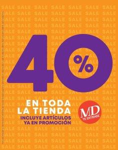 Calzado MD con 40% OFF [Febrero 2019]