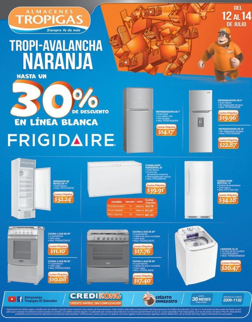 Avalancha de ofertas en electrodomesticos FIn de semana tropigas
