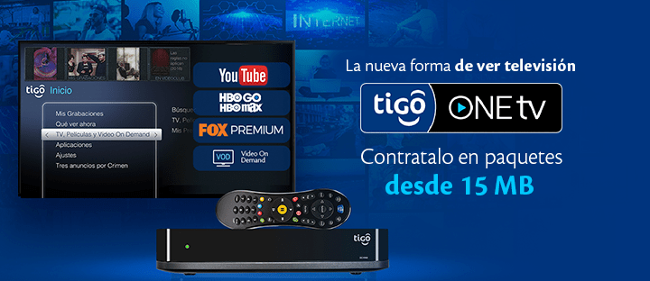 Nuevo servicio TIGO one tV un solo dispositivo