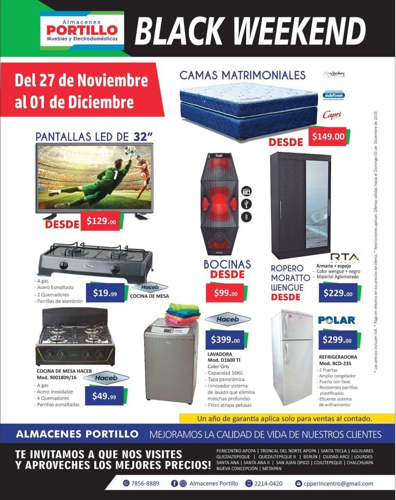 Almacenes Portillo santa tecla black weekend 2019