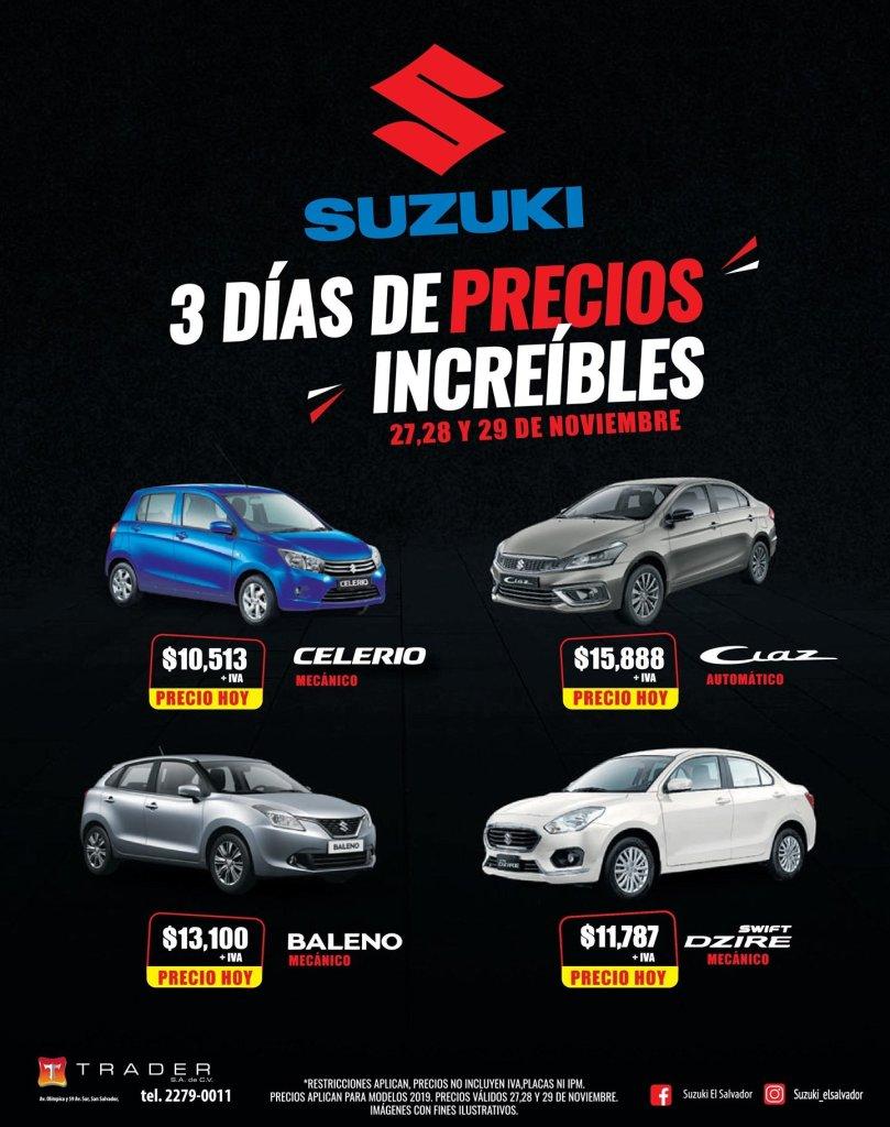 Autos marca SUZUKI precios black friday 2019