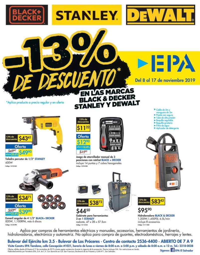 BLack November 2019 tools Ferreteria epa