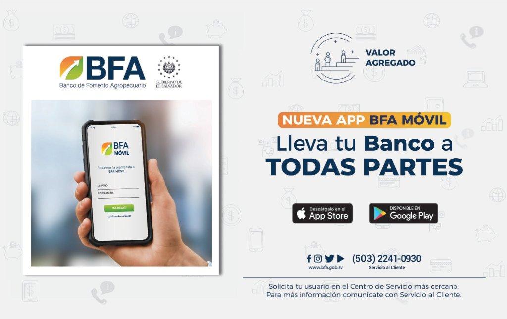 Descargar APP banca movil - Banco de Fomento Agropecuario El Salvador