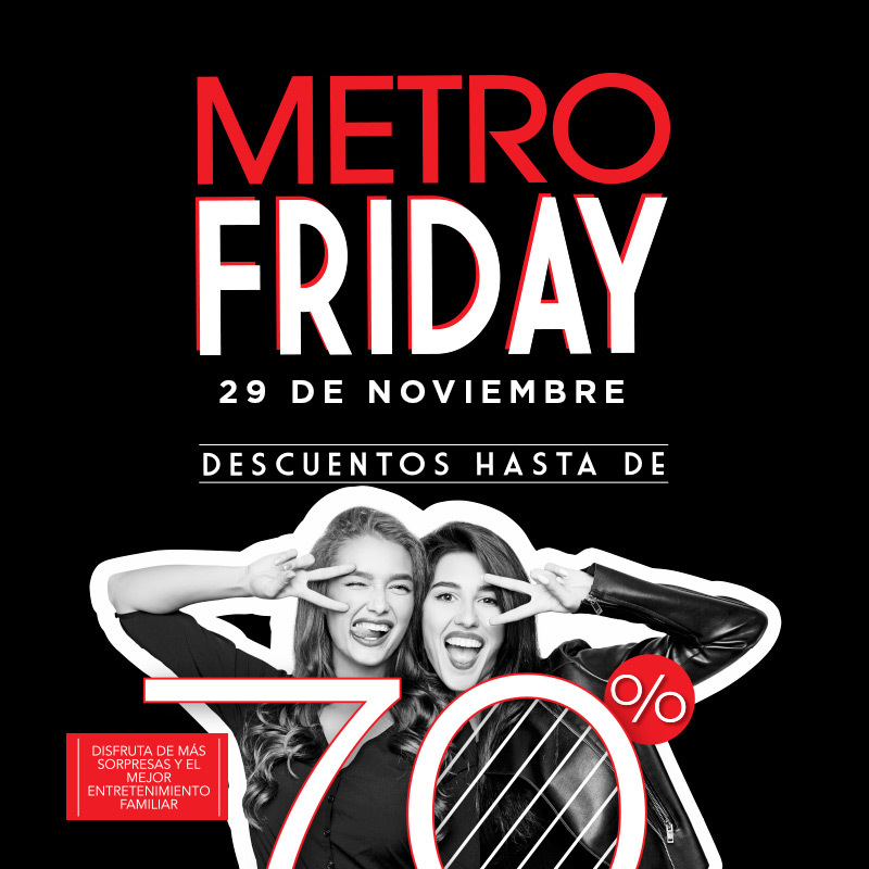 Descuentos black friday 2019 centro comercial metrocentro