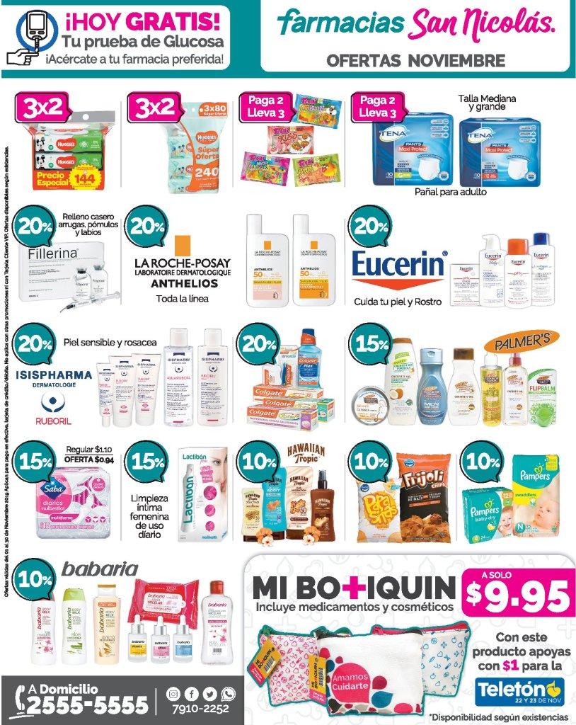Ofertas medicinas Farmacias san nicolas noviembre 2019