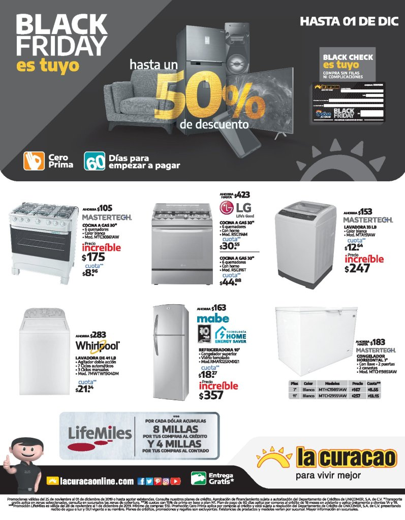 Ofertas-thanksgiving-day-2019-APPLIANCE-La-Curcao-el-salvador