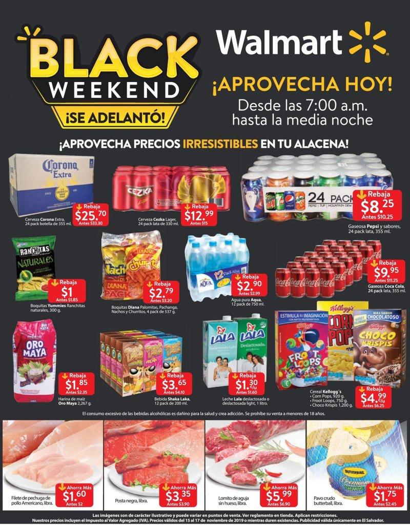 TODAS las ofertas black friday 2019 de supermercado walmart el salvador