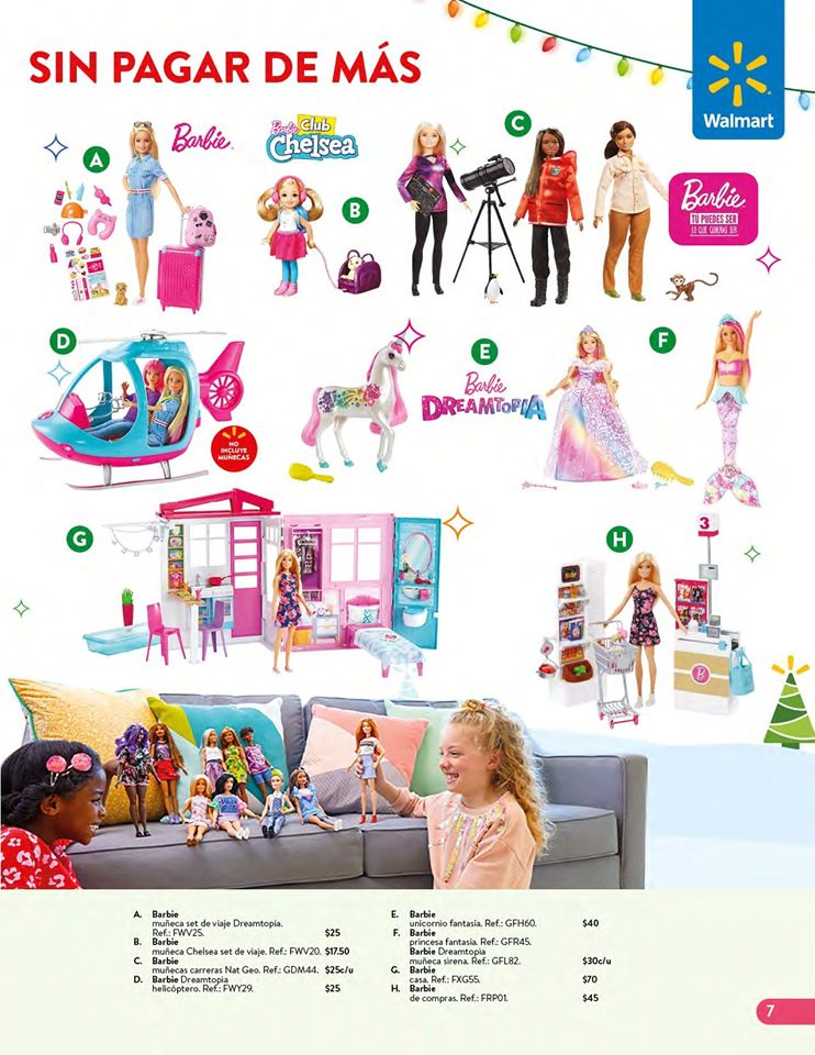 toys BARBIE collection WALMART el salvador Navidad 2019