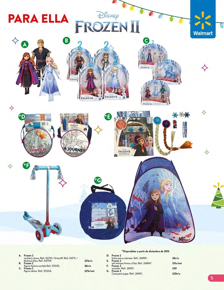 toys DISNEY FROZEN collection WALMART el salvador Navidad 2019