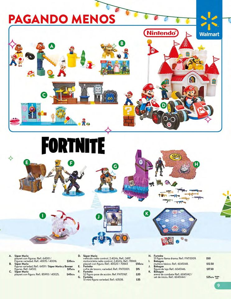 toys FORTNITE collection WALMART el salvador Navidad 2019