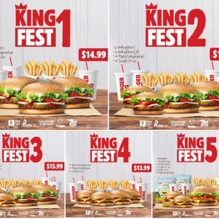 Promocion KING FEST burger king el salvador junio 2020