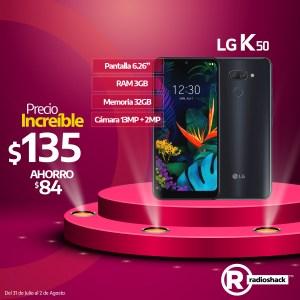 LG K50 oferta $135 dolares