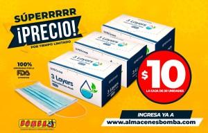 Super oferta caja de Mascarillas $10
