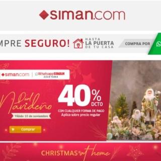 ofertas SIMAN coleciones de adornos de navidad 2020