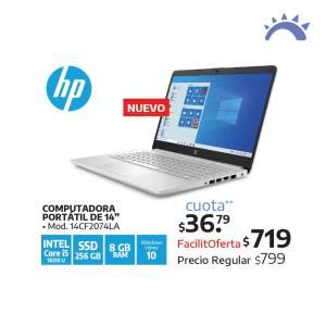LA CURACAO precios COMPUTADORA PORTATIL HP 14CF2074LA