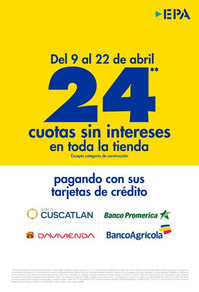 promociones tarjretas de credito epa san miguel abril 2021