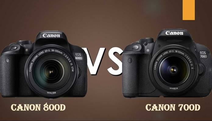 Canon 800D vs Canon 700D – A comparação