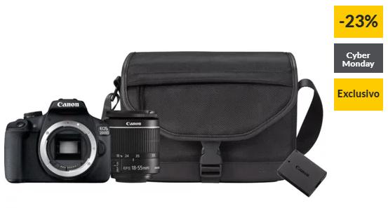 Kit Máquina Fotográfica Reflex CANON EOS 2000D + 18-55MM IS + Bateria Extra +Bolsa (24.1 MP – Sensor: APS-C – ISO: 100 a 6400)