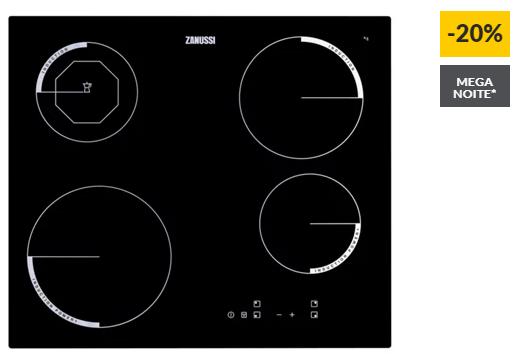 Placa de Indução ZANUSSI ZEI6840FBA (Elétrica – 59 cm – Preto)
