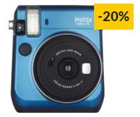 Kit Máquina Fotográfica Instantânea FUJIFILM Instax Mini 70 (Azul – Obturação: 1/2 – 1/400 seg – 2xCR2/DL – 62x46mm)