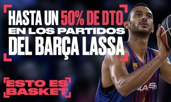 descuento en entradas para el Barça Lassa