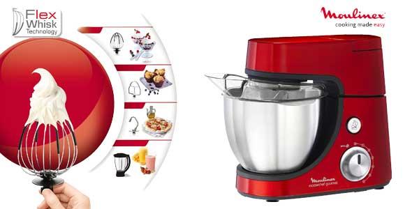 Sólo Hoy: Robot Amasador Moulinex Masterchef Gourmet Red Ruby 900 W Por  Sólo 178u20ac