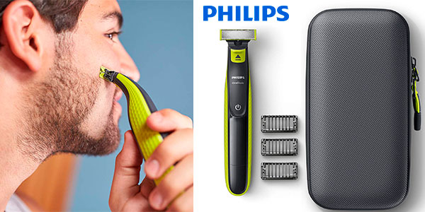 Chollo Pack Recortador de barba Philips OneBlade recargable + estuche